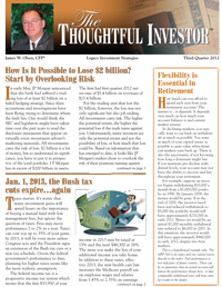 Thoughtful Investor Newsletter
